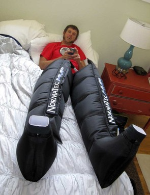 Jake Wells had the help of some space legs to enhance his recovery