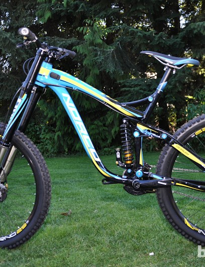 Norco's 2013 Aurum 1 demo bike provided an impressively stable and predictable ride on the steepest and most technical trails Whistler had to offer