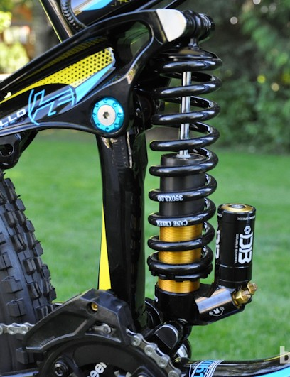 The Cane Creek Double Barrel rear shock offered plenty of adjustment and a consistent feel throughout a long day of riding Whistler