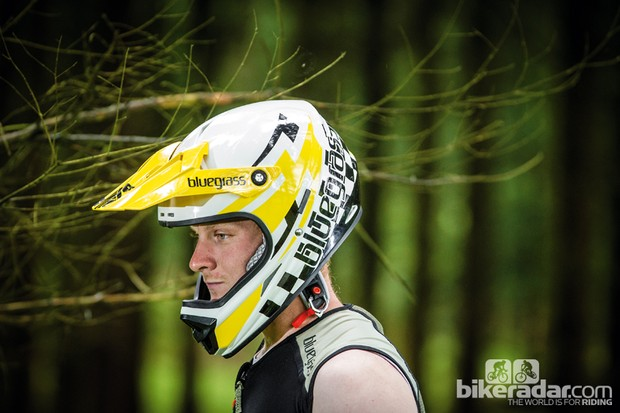 The Bluegrass Intox helmet is a full-face lid with a snug fit