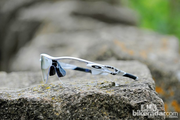 The Oakley Radarlock Pitch sunglasses use Switchlock Technology for easy use