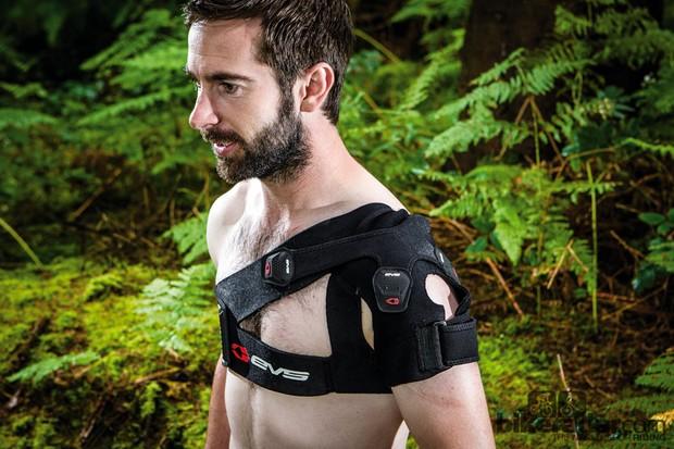 The EVS SB03 shoulder brace offers tunable support for damaged shoulders