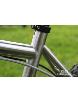 The drop top tube should offer a little more stand over clearance