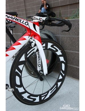 Easton EC90 TT carbon tubulars were fitted to Bissell's Pinarello Graal time trial bikes for the final USA Pro Challenge stage in Denver, Colorado