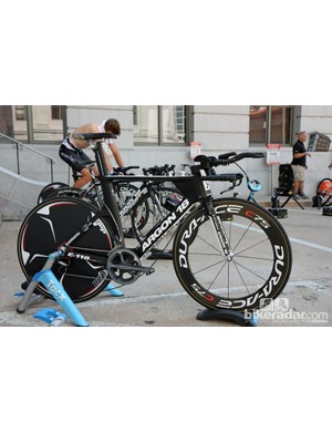 The Argon 18 E-118 time trial bike of team Spidertech