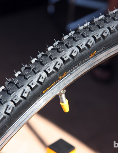 Muddy cyclocross courses will call for Continental's new Mountain King CX clincher, which uses an open and aggressive knob pattern for cutting through the muck into more solid ground below