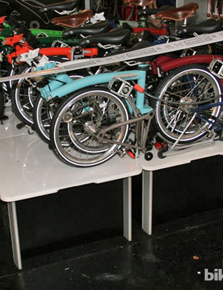 Brompton were clearly showing off just how compactable their bikes are