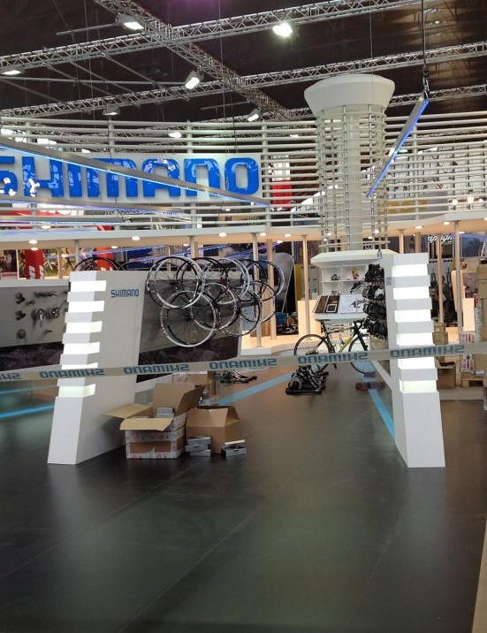Shimano have one of the biggest areas at the show, but wouldn't let us close