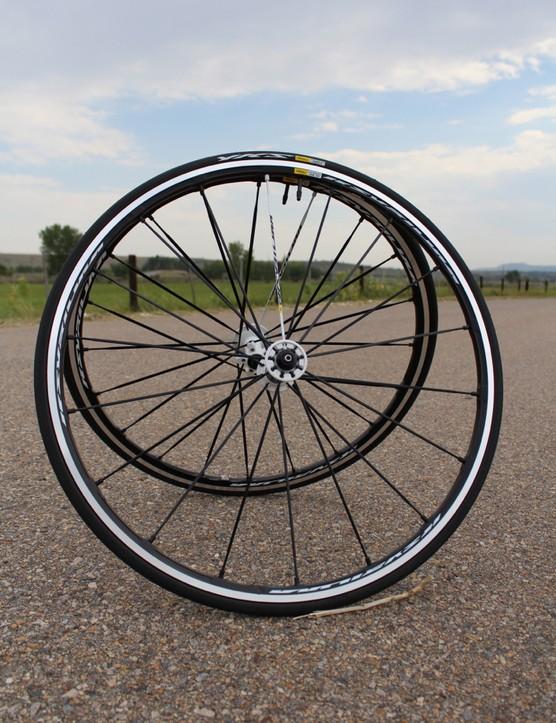 A lighter rear hub, lighter rims and lighter spokes for the Ksyrium SLS