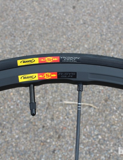The R-Sys SLR has Mavic's Exalith brake track