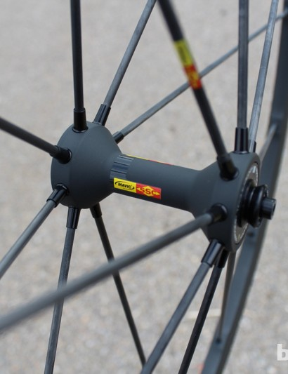 The tubular carbon spokes remain on the R-Sys line