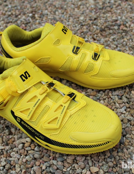The Mavic podium shoes are a sneaker-sole version of the Zxellium Ultimate shoes, which now come in wide widths, too