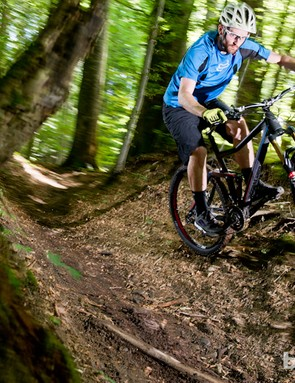 We put the 650b Stereo through its paces as much as we could by taking every line possible on the limited Eurobike test circuit. It coped but has much more to offer
