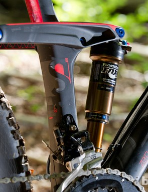 The Float CTD rear shock – new from Fox – is housed snugly within the front triangle