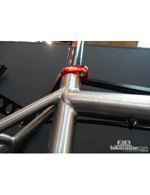 More detail on the butted titanium tubeset