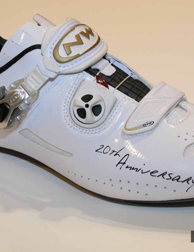 The right, white shoe in the Nerowhite range from Northwave