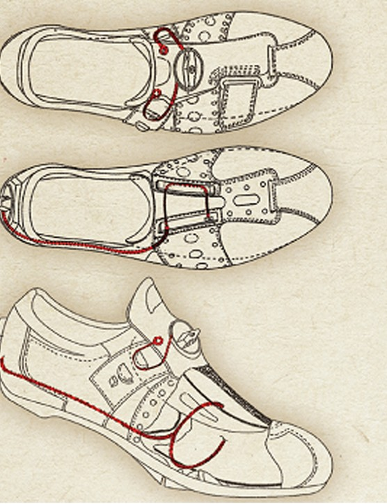 This patent drawing from 1988 shows that Sidi founder Dino Signori has been thinking about the Wire concept for some time now