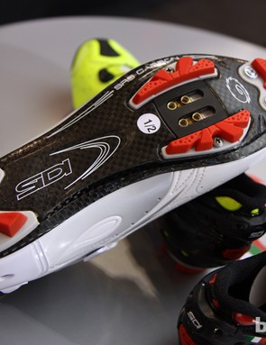 The new Sidi Drako features a carbon fiber sole with replaceable tread blocks