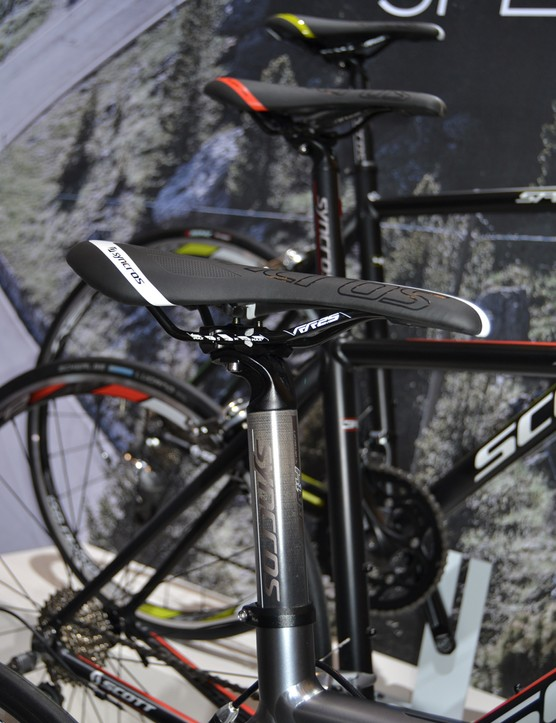 Syncros saddles and posts are common throughout the Scott stable for 2013