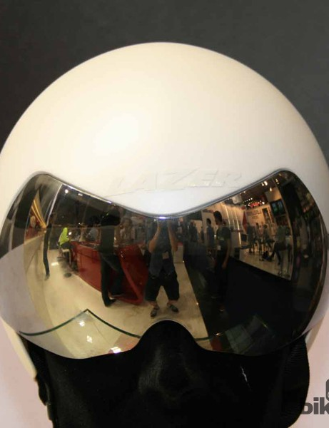 The visor comes in clear and tinted options and can be snapped away from the helmet to reveal vents