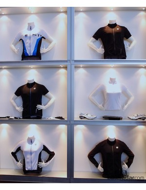 Panels of seamless stretch fabric are used for breathability and fit across Storck's 2013 men's and women's clothing range