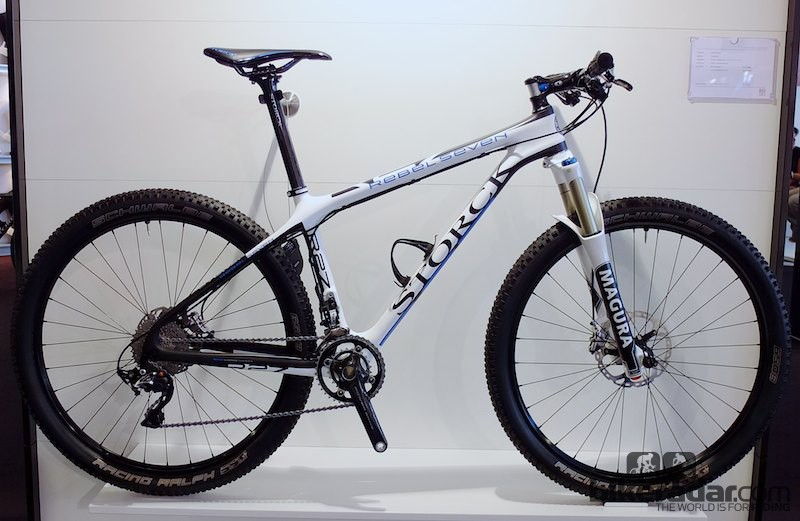 Embracing the new 650b wheel size, the Rebel Seven is Storck's new carbon hardtail