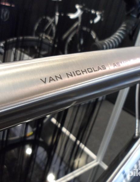 Hydroformed tubing is still a rarity on titanium bikes