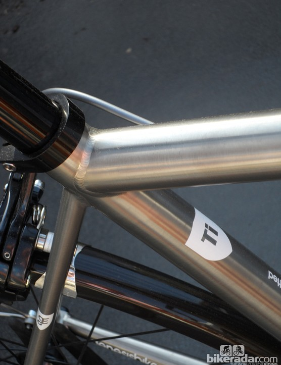 Smooth quality welds show that the Equilibrium Ti is a quality frameset
