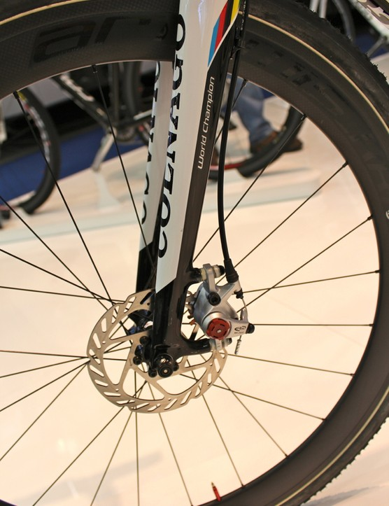 The Prestige runs disc brakes, too, but mechanical ones
