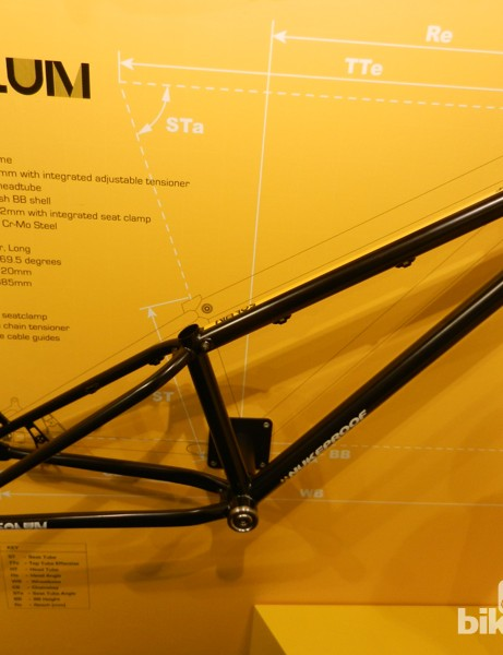 Nukeproof's dirt jumper, the Solum, is available as a frame only
