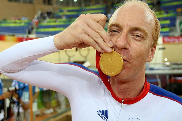 Simon Richardson is a multiple Paralympic cycling gold medalist