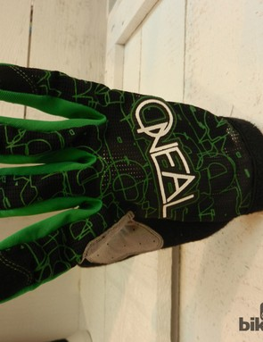 A mesh back and no cuffs should make O'Neal's AMX gloves light and cool