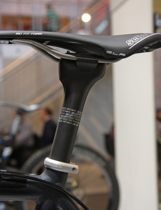 The zero-offset Easton EC90 seatpost gets revised shaping for 2013