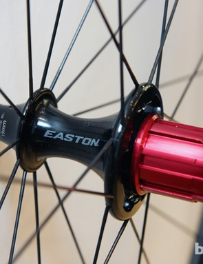 The R4 hubs on Easton's new EC70 SL wheels feature swappable aluminum freehub bodies and adjustable bearing preload