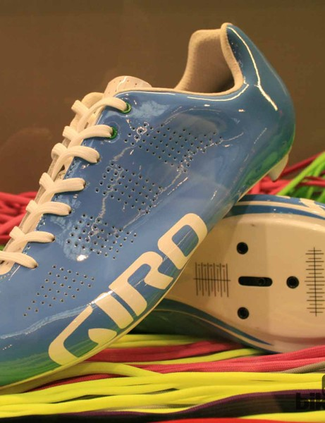 Giro's Empire shoe looks set to split cyclists down the middle, particularly in this sky blue version