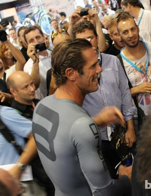 The crowd at Eurobike seemed to enjoy the presentation