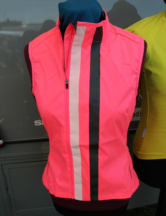 New for 2013 are bright gilets wtih the offset zipper