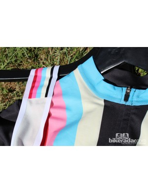 No one else can see the color swatch on the bib straps, but you can