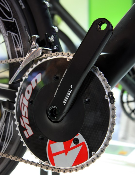This version of Cannondale's Hollowgram crank features an aerodynamic spider