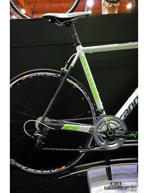 The standard Cannondale SuperSix frame does without the EVO's more elaborate chain stay and seat stay shaping