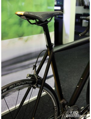 While the majority of Cannondale's 'Black Inc' bikes are - obviously - all black, there's a hint of gold sprinkled in for effect