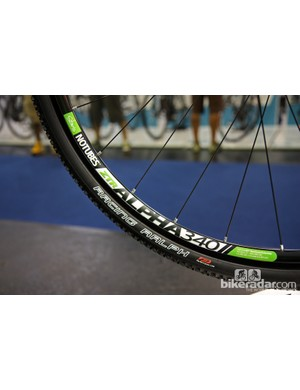 The 2013 Cannondale SuperX Hi-Mod Disc will come with Stan's NoTubes ZTR Alpha 340 rims for easy tubeless compatibility