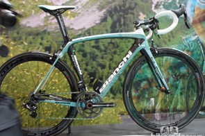 Bianchi's top of the range Super Record EPS Oltre XR was one of the stunners at Eurobike