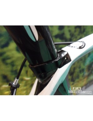 The Oltre XR's clever hidden seatclamp