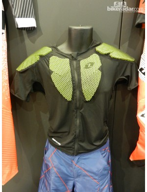 The EXO short sleeve jacket has lightweight perforated EVA foam padding held within a stretchy mesh jacket