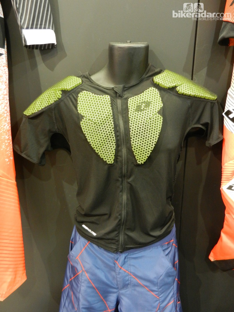 The EXO short sleeve jacket has lightweight perforated EVA foam padding held within a stretchy mesh jacket