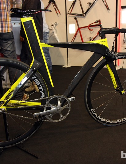 Time also showed off this elaborate fixie concept, with a burly carbon frame and hacked-down FSA carbon fiber handlebar