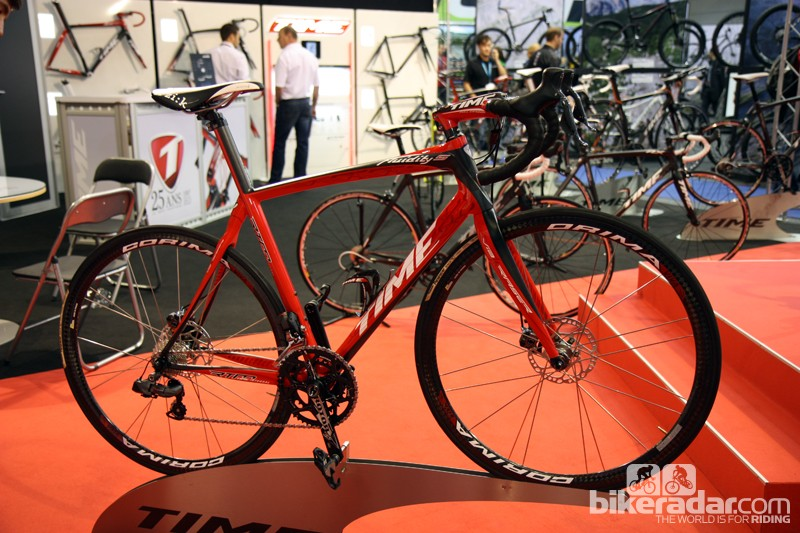 Time showed off this disc-equipped Fluidity prototype at Eurobike