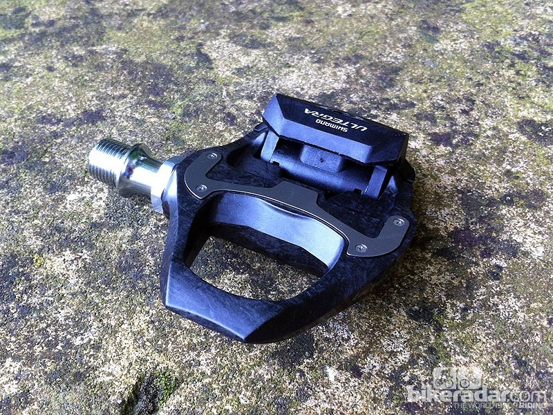 The difference between the Shimano Ultegra PD-6700C carbon road pedals and the Dura-Ace model is negligible