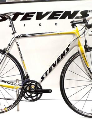 The 1,999 Euro Stevens Izoard comes with Shimano Ultegra and Mavic wheels